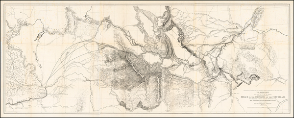 89-Rocky Mountains and Idaho Map By U.S. Pacific RR Surveys
