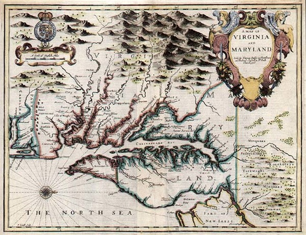 9-Mid-Atlantic and Southeast Map By John Speed