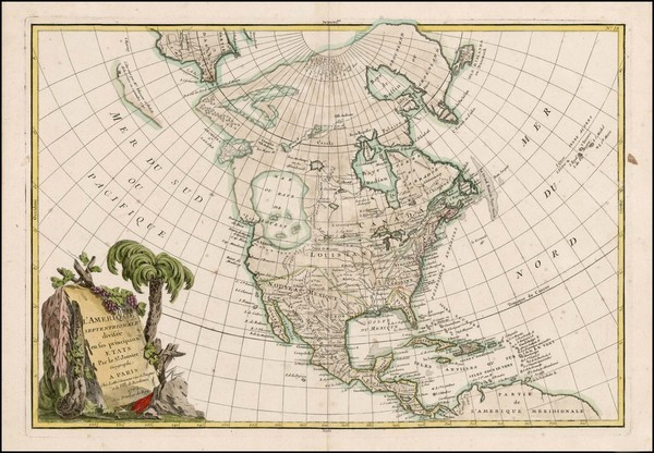 58-Alaska and North America Map By Jean Janvier