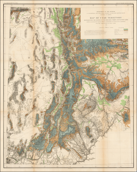 85-Southwest, Rocky Mountains and Utah Map By U.S. Geological Survey