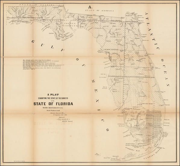 32-Florida Map By U.S. Surveyor General