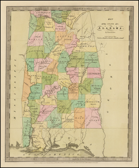 80-Alabama Map By David Hugh Burr