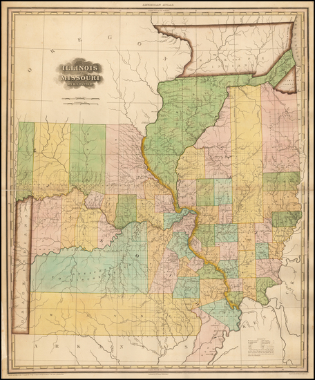 54-Illinois and Missouri Map By Henry Schenk Tanner