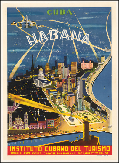 82-Cuba Map By Instituto Cubano Del Turismo