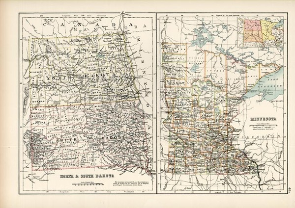 89-Midwest and Plains Map By Adam & Charles Black