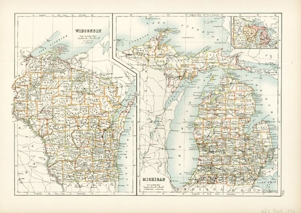 17-Midwest Map By Adam & Charles Black