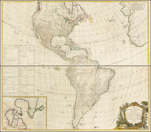 59-United States, North America, South America and America Map By Laurie & Whittle