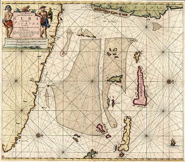 39-Southeast and Caribbean Map By Johannes Van Keulen
