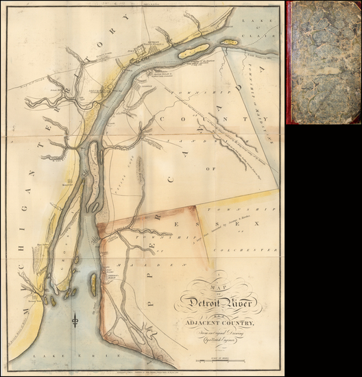 60-Michigan Map By John Melish