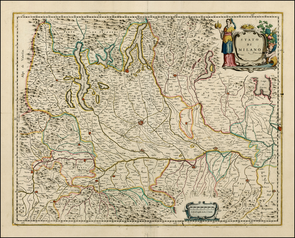 0-Italy and Northern Italy Map By Johannes Blaeu