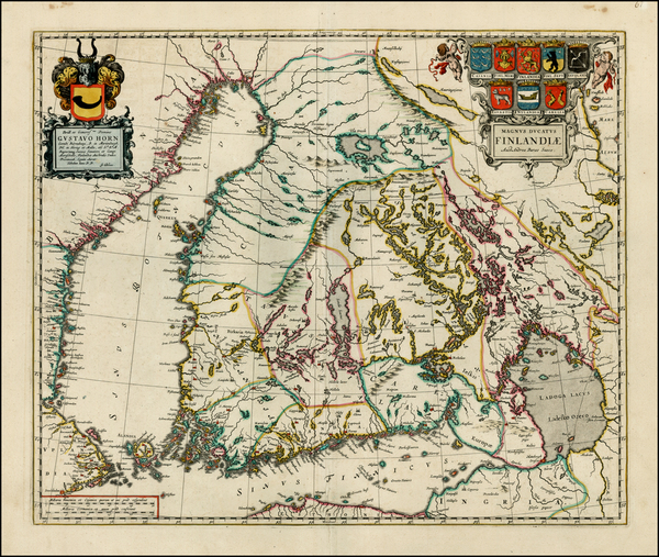 30-Finland Map By Johannes Blaeu
