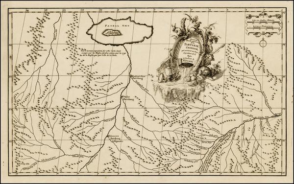 Central Asia & Caucasus Map By Jean-Baptiste Bourguignon d'Anville