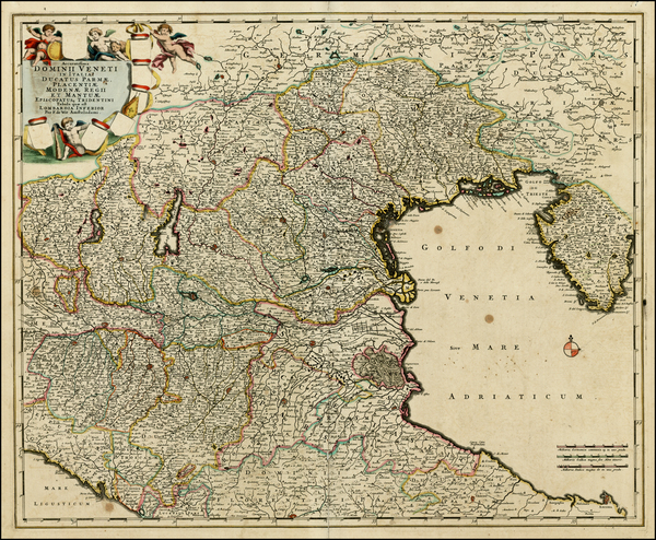 25-Northern Italy Map By Frederick De Wit