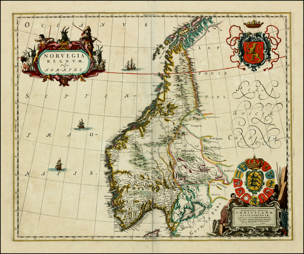 22-Scandinavia Map By Johannes Blaeu