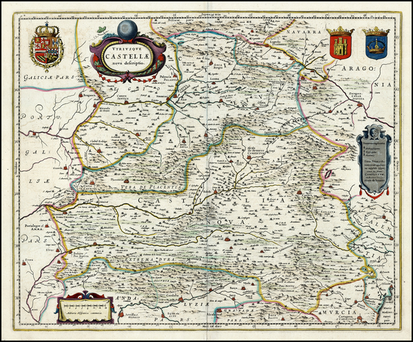 56-Spain Map By Willem Janszoon Blaeu