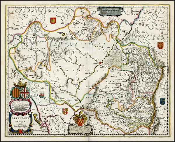 7-Spain Map By Willem Janszoon Blaeu