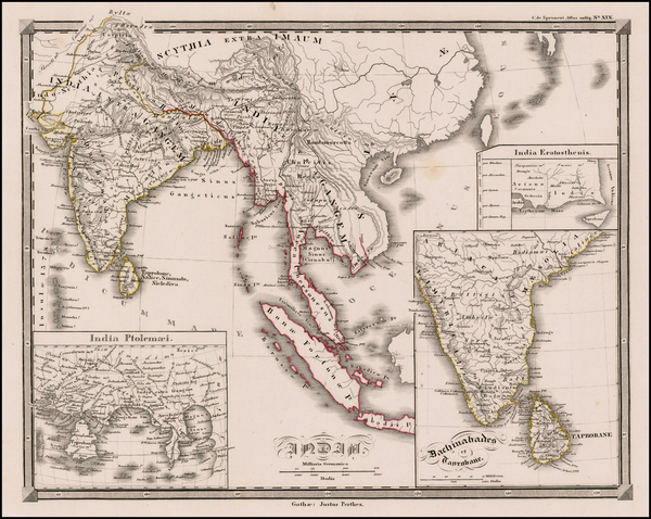 96-India, Southeast Asia and Other Islands Map By