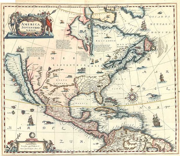 72-North America and California Map By Jan Jansson