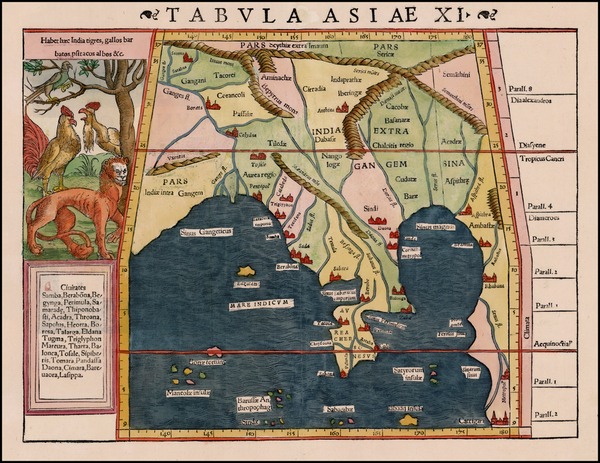 19-India and Southeast Asia Map By Sebastian Munster