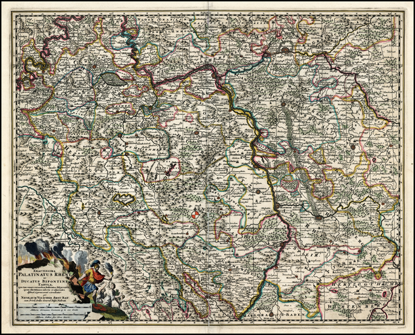 51-Germany Map By Nicolaes Visscher I