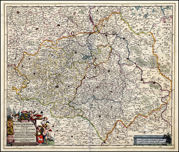 58-Germany Map By Frederick De Wit