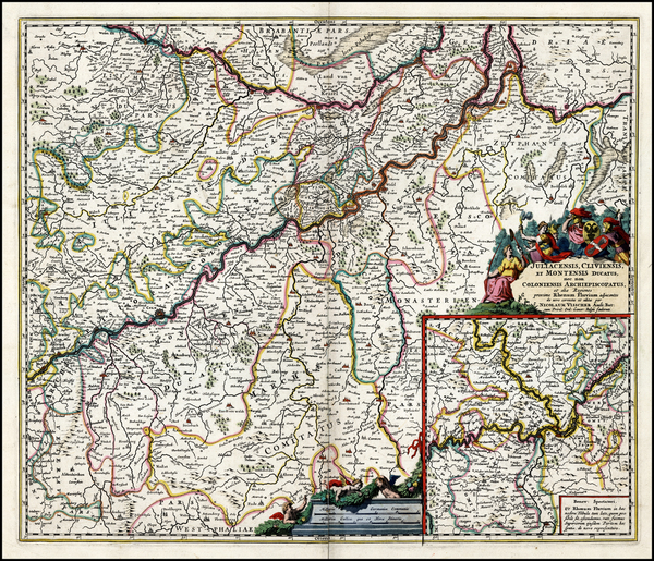 65-Germany Map By Nicolaes Visscher I