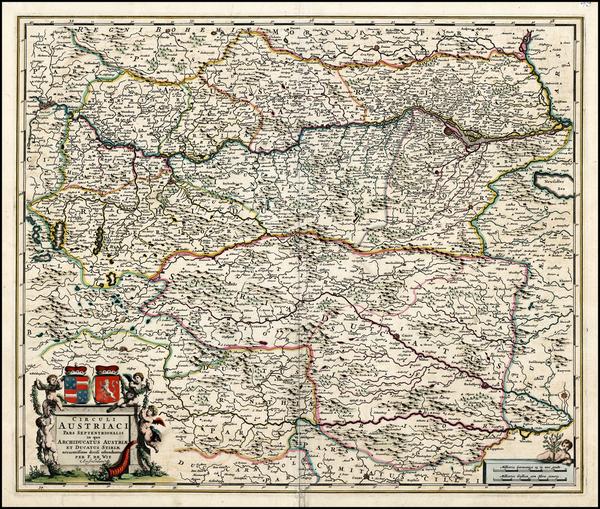 92-Austria Map By Frederick De Wit