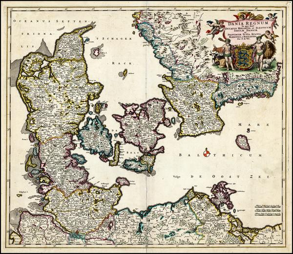 60-Scandinavia Map By Frederick De Wit