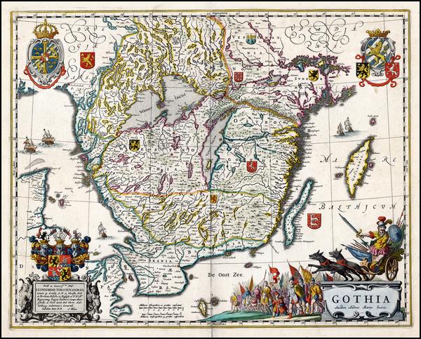 74-Scandinavia Map By Johannes Blaeu
