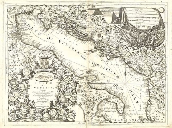 46-Europe, Balkans, Italy and Balearic Islands Map By Vincenzo Maria Coronelli