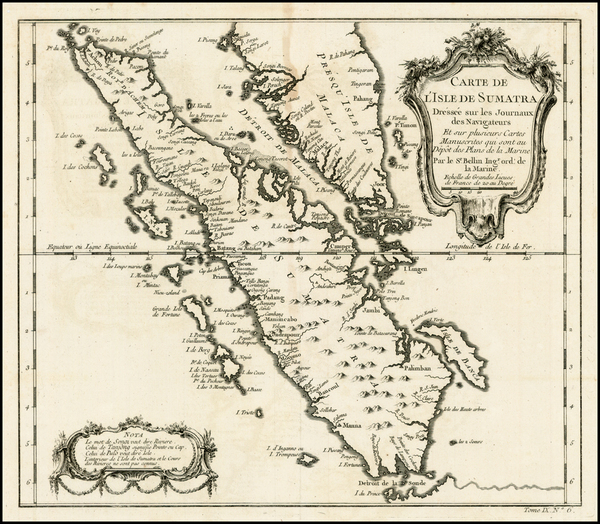 87-Southeast Asia Map By Jacques Nicolas Bellin