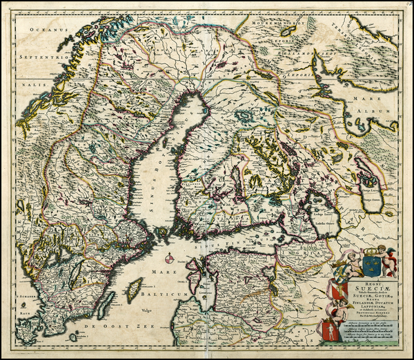 44-Baltic Countries and Scandinavia Map By Frederick De Wit