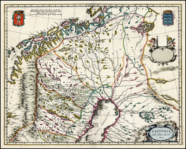 Scandinavia and Sweden Map By Johannes Blaeu