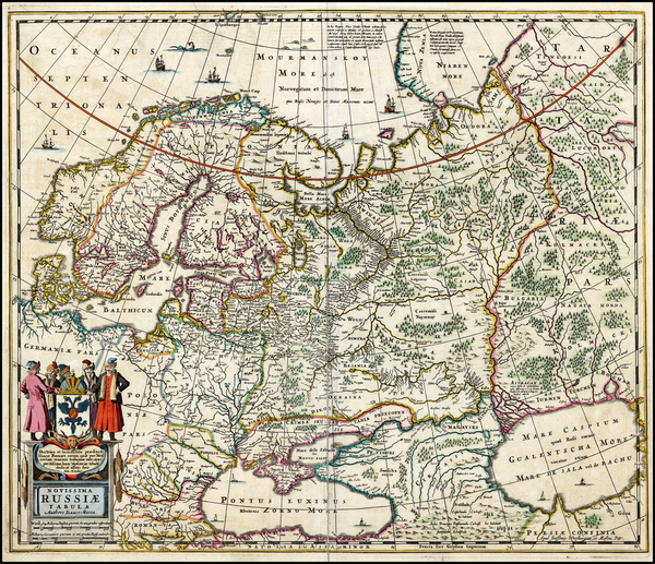 38-Europe, Europe, Russia, Baltic Countries and Scandinavia Map By Moses Pitt