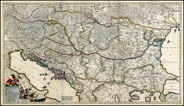 29-Austria, Hungary, Romania, Czech Republic & Slovakia, Balkans and Turkey Map By Frederick D