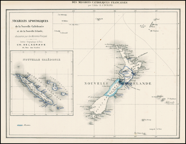 Australia & Oceania, Oceania and New Zealand Map By