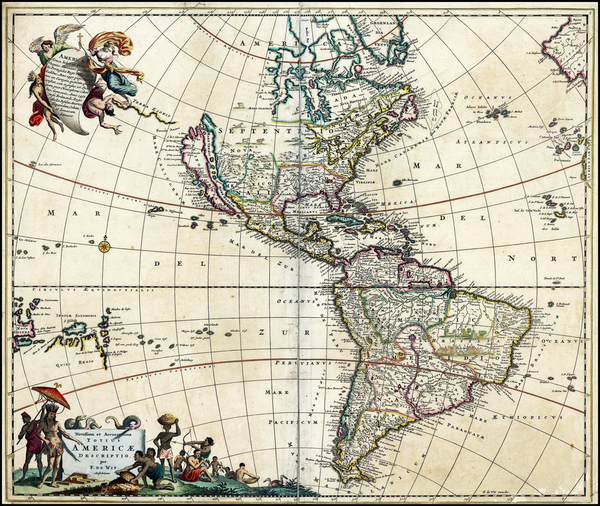66-America Map By Frederick De Wit