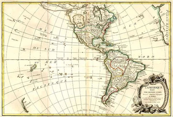 62-South America and America Map By Jean Janvier