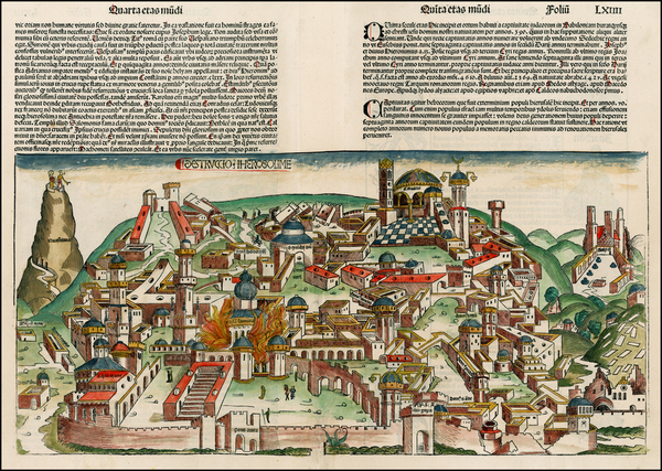 64-Holy Land Map By Hartmann Schedel