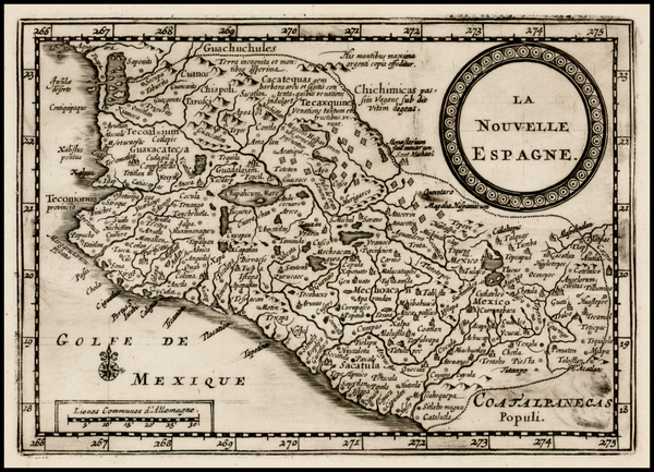 52-Mexico Map By Pieter van der Aa