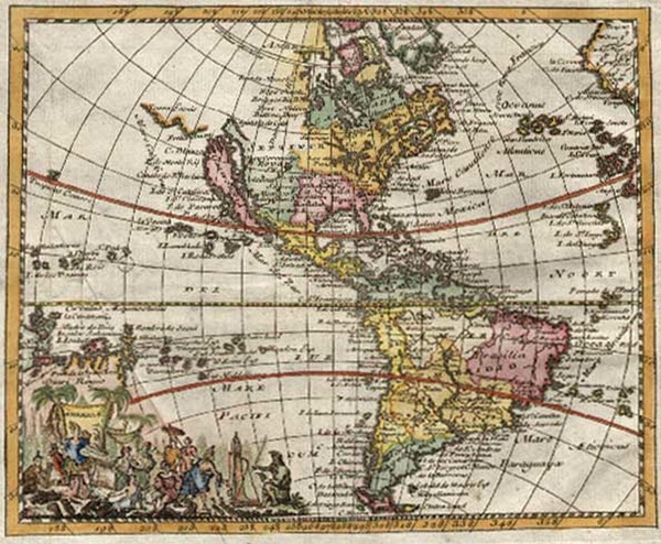 44-South America and America Map By Don Francisco De Afferden