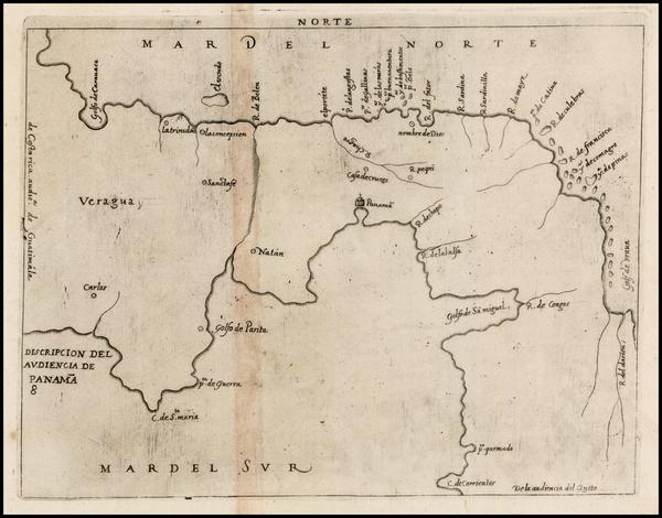 3-Central America Map By Antonio de Herrera y Tordesillas