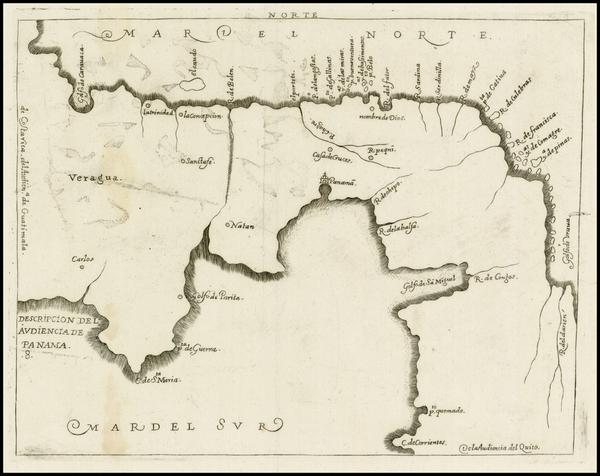 28-Central America Map By Antonio de Herrera y Tordesillas