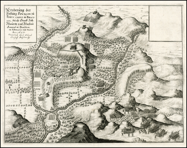 4-Brazil Map By Mattheus Merian