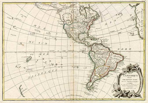 70-South America and America Map By Jean Janvier