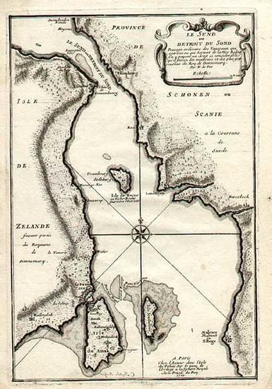 45-Europe and Scandinavia Map By Nicolas de Fer