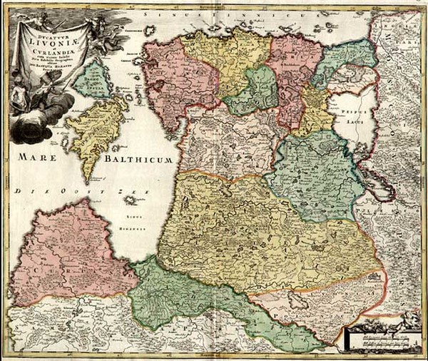 3-Europe, Poland, Baltic Countries and Scandinavia Map By Johann Baptist Homann