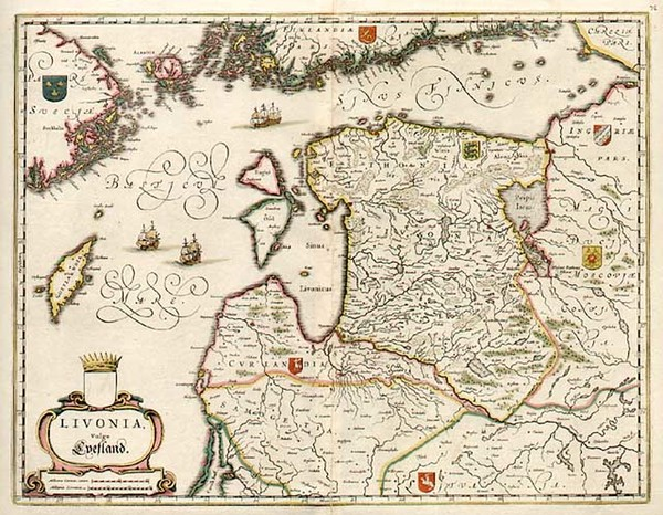 42-Europe, Poland, Russia, Baltic Countries and Scandinavia Map By Willem Janszoon Blaeu