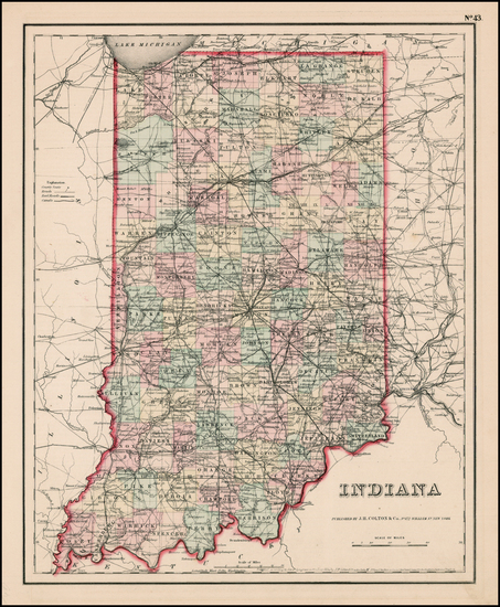 0-Midwest Map By Joseph Hutchins Colton