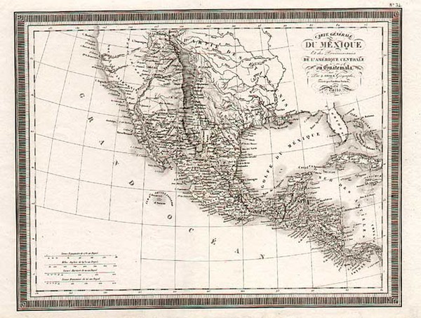 48-Texas, Southwest, Rocky Mountains and California Map By Louis Vivien